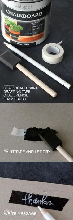 DIY Chalkboard Washi Tape