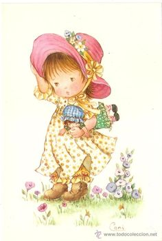 Retro Illustration, Christmas Illustration, Cute Girl Drawing, Cute Drawings, Kindle Paperwhite Case, Baby Animal Drawings, Disney Coloring Pages, Holly Hobbie, Spring Art
