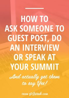 Collaborating and speaking and interviewing is a big part of growing your blog and your business, so it's time to nail down exactly how to get people to commit to being involved in your project. Click through to learn how to get an instant YES!