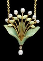 Art Nouveau Lily-of-the-Valley Pendant/Brooch von Andre Rambour