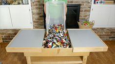 DIY Sliding Lego Table Keeps All Those Bricks in One Place  - PopularMechanics.com