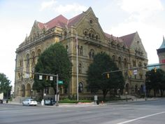 Post Office and Courthouse, Columbus, now houses a law firm Victorian Buildings, Victorian Architecture, District Court, Columbus Ohio, Post Office, Places To Go, Street View, United States, Real Estate