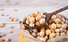 Wooden Spoon Dried Chickpeas On Chickpea Stock Photo (Edit Now) 449291566 Falafel, Prosciutto, Tahini, Hummus, Vegetables, Food, Chickpeas, Strawberry Fruit, Easy Recipes