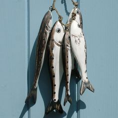 hand carved wooden fish - sardines - click to view