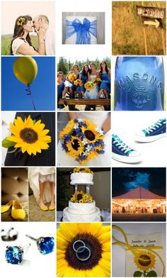 blue/yellow maybe a summer wedding is what i want!