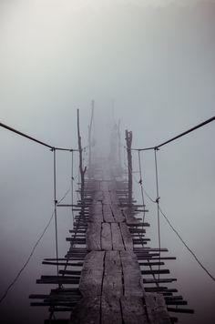 """Old bridge through the """"Yuzhniy Bug River"""" by Evgen Andruschenko"""