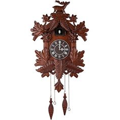 Vivid Large Deer Handcrafted Wood Cuckoo Clock CC105 * Learn more by visiting the image link.