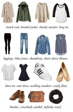 Packing Light: How to Create a 15-Piece Travel Wardrobe - College Fashion #CoolStuff