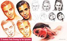 25 Anatomy Study Drawings by Veri Apriyatno - Tutorial for Beginners. Read full article: http://webneel.com/best-anatomy-study-drawings-tutorial-veri-apriyatno   more http://webneel.com/drawings   Follow us www.pinterest.com/webneel