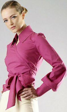 Wrap Shirt by Claudette Joseph at Bouf.com