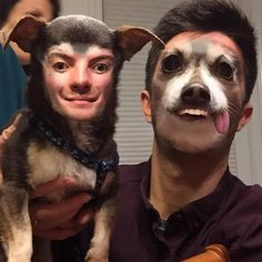 """These Horrible Face Swaps Will Keep You Awake at Night - Funny memes that """"GET IT"""" and want you to too. Get the latest funniest memes and keep up what is going on in the meme-o-sphere. Animal Face Swap, Face Swap App, Animals And Pets, Funny Animals, Creepy Faces, Face Swaps, Cat Pin, Cat Face, Funny Pictures"""