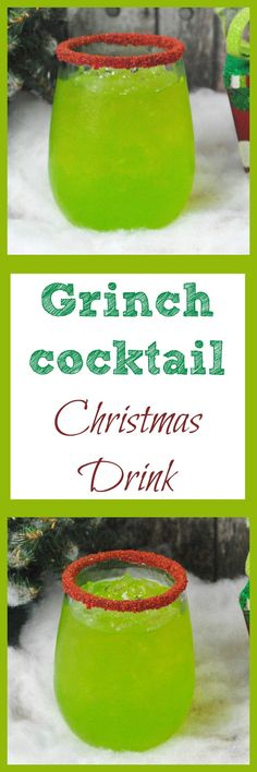 Looking for a drink for Christmas? Try this simple Grinch cocktail. It is a tasty drink that your adult guests will love at a Christmas party. #alcohol #cocktail #drink #Christmascocktail via @debitalks