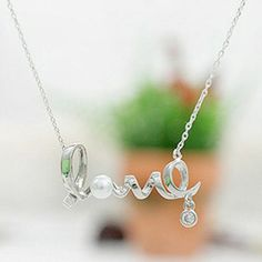 Looking for a gift for your love one? How about a necklace that spells it out for them? Get this love pendant necklace. Perfect gift for anniversary, valentines and really just to show your appreciation! This silver pendant necklace suits teenagers, young adults, adults and really, any age bracket. Perfect romantic gift for valentines or any holidays.