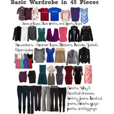 """Basic Wardrobe in 45 pieces"" by aimee71 on Polyvore"