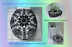 One Pattern for Two - Toilet Seat Cover