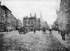 Westgate #Wakefield pre 1904 (when trams were introduced). Yorkshire Penny Bank & the Church Institute are in centre.
