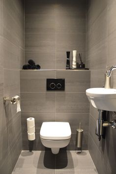 Space-saving toilet design for small bathrooms - Home to Z. space-saving toilet design for small bathroom secrets 14 - homedecorsdesig space-saving toilet design for small bathroom secrets 14 - homedecorsdesignPocket Door System KitsMaster Small Downstairs Toilet, Small Toilet Room, Guest Toilet, Downstairs Bathroom, Bathroom Bidet, Bathroom Closet, Washroom, Bathroom Design Small, Bathroom Interior Design