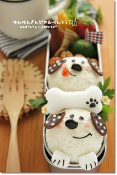 Doggie friends bento
