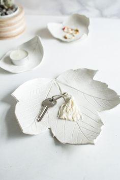 DIY Air Dry Clay Leaf Bowl Tutorial by Fall for DIY for Design...