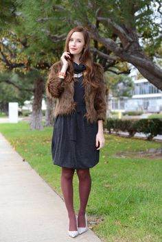 https://flic.kr/p/wyrCgr | Mara Ferreira in tights | How to style tights by Mara Ferreira