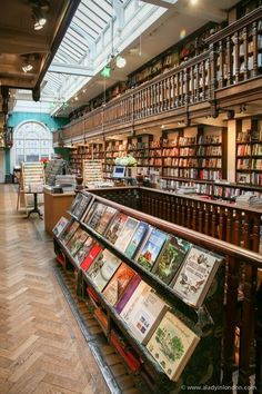 Dating In London, Literary Travel, Beautiful Library, Book Cafe, Perfect Date, England And Scotland, London Photography, Book Aesthetic, London Travel