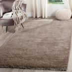 Reno Shag Mushroom (Brown) 6 ft. 7 in. x 9 ft. 2 in. Area Rug