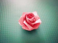 Origami Roses Kawasaki Rose folding graphic tutorial taught you how to make origami roses