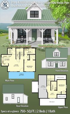 Cottage Plan, Cottage Homes, Small Cottage House Plans, Cottage Floor Plans, Shabby Cottage, Cottage Style, Shabby Chic, Farmhouse Plans, Modern Farmhouse