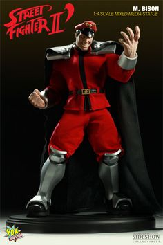 Sideshow Collectibles Street Fighter Series. This mixed media M. Bison Statue stands 19 inches high, limited to 500 pieces