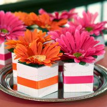 Dollar Tree  Wedding Idea:  Blooming Favor Boxes