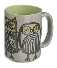 Another great find on #zulily! Gray Owl Mug by Wild Eye Designs #zulilyfinds