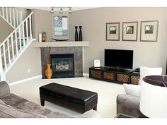 furniture placement around corner fireplace design, pictures