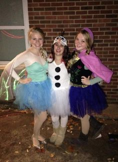 Halloween Group Costume - Frozen - Elsa, Olaf, Anna - Tutu