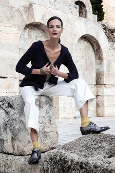 #barbaratani S/S 2015 collection cotton sweaters. Available in more colors. www.barbaratani.com