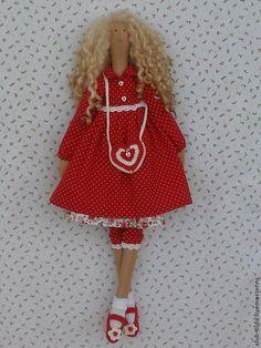 """Куклы Тильды ручной работы. Ярмарка Мастеров - ручная работа. Купить Кукла в стилеТильда """"Влюбленная"""". Handmade. Кукла Тильда"""