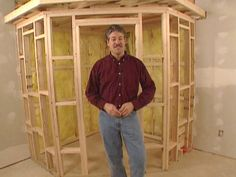 DIY Network build your own sauna in the basement... But who wants an electric.. Would need to modify this.