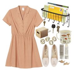 """""""Eva."""" by annacc ❤ liked on Polyvore featuring Monki, InterDesign, CB2, Korres and BaubleBar"""