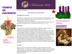 ORACIÓN. Diciembre 18º, JUEVES 2014. 3RA SEMANA DE ADVIENTO ҉҉LOURDES MARÍA BARRETO҉҉