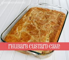 pin it. Rhubarb Custard Cake I had never heard of rhubarb custard cake until last week! Linda left a comment on my Strawberry Rhubarb Crisp recipe, sharing the recipe with me. I was immediately intrigued – it sounded delicious and so very, very easy. And it was full of whipping cream – so I knew it …