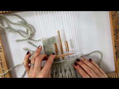 Prima DT Pinspiration weaving-adding metal embellishments onto your warp threads - YouTube