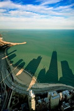 Chicago Beach building shadows (via Amazing Snaps.com)