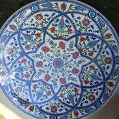 Fulya Batum Traditional Art, Tiles, Plates, Ceramics, Tableware, Modern, Blue, Beautiful, Ceramic Art