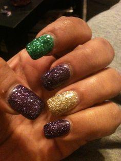 My Mardi Gras nails
