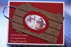 stampwithamber - Amber Meulenbelt, independant Stampin' Up! demonstrator: Hedgehogs on a Hardwood Sled Christmas Paper Crafts, Stampin Up Christmas, Hedgehogs, Sled, Stamping Up, Amber, Hardwood, Card Making, Create