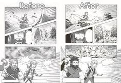 2012 vs 2014/15 revamp of my comic
