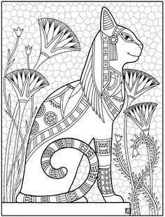 Royal Egyptian Cat - Cats in ancient Egypt were highly revered, in part . - Royal Egyptian Cat - Cats in ancient Egypt were revered, in part because of . - # Egypt # Egyptian Royal Egyptian Cat - Cats in ancient Egypt were revered, te . Cat Coloring Page, Coloring Book Pages, Cats In Ancient Egypt, Egypt Cat, Egyptian Cats, Frida Art, Doodle Art, Cat Art, Art Lessons
