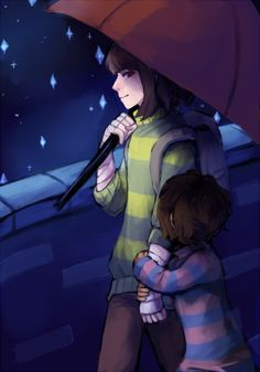 au where chara is frisk's older sibling and helps them out Undertale Fanart, Undertale Au, Undertale Pictures, Rain Art, Group Poses, Couple Wallpaper, Cute Comics, Frisk, Chara