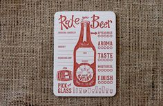 Rate Your Beer Coasters: SRM Collection...The by PaperPlatesPress