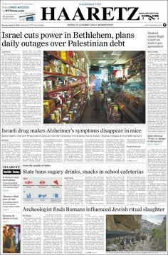 #20160405 #ISRAEL #JERUSALEM Tuesday APR 05 2016 #HAARETZnewspaperISRAEL20160405 http://en.kiosko.net/il/2016-04-05/np/il_haaretz.html