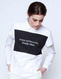 t-shirt over shirt #woodyallen